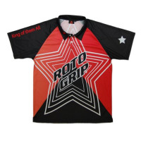 Rotogrip Bowling Polo Black/Red